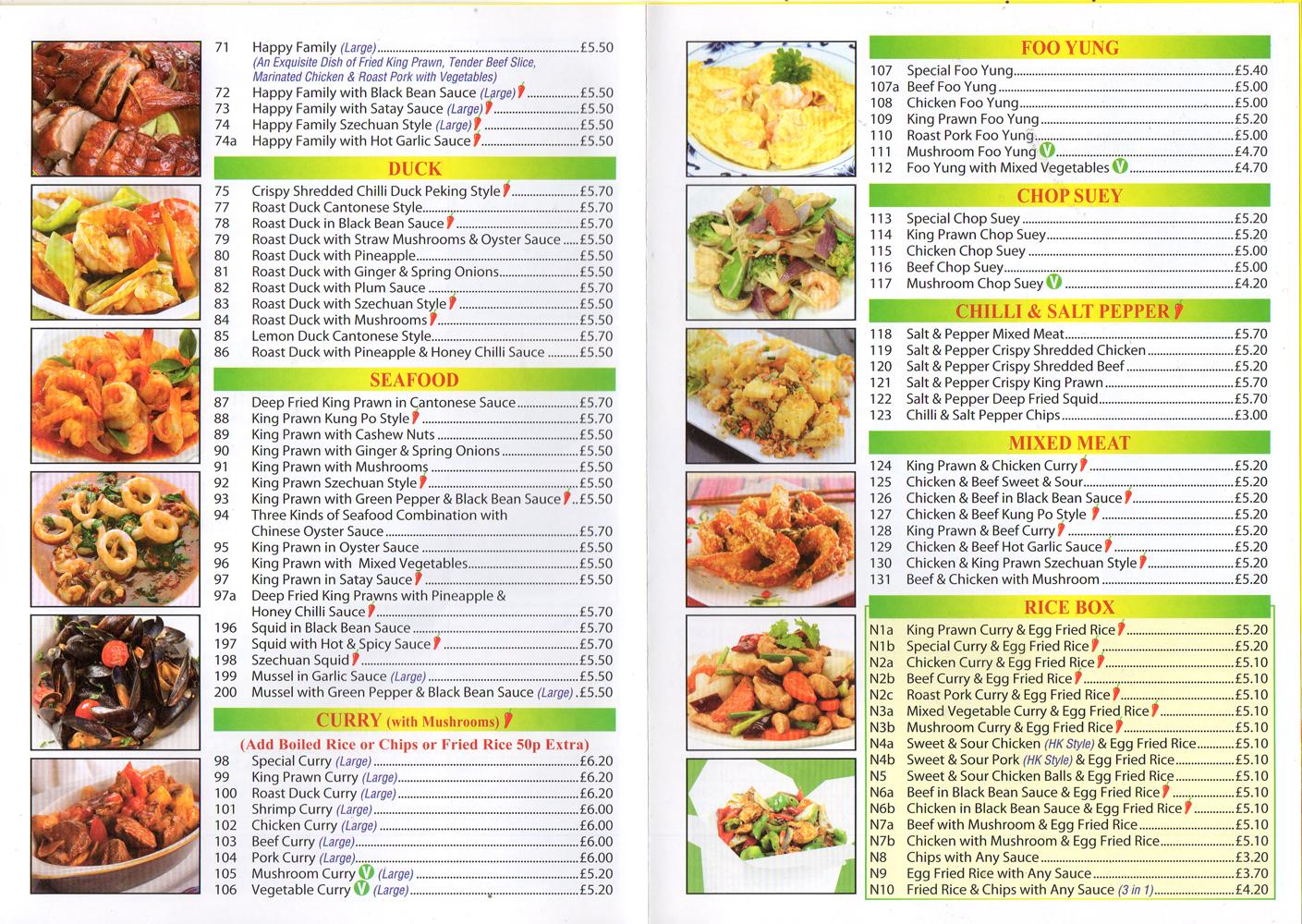 China palace ilkeston takeaway menus for Asia cuisine menu