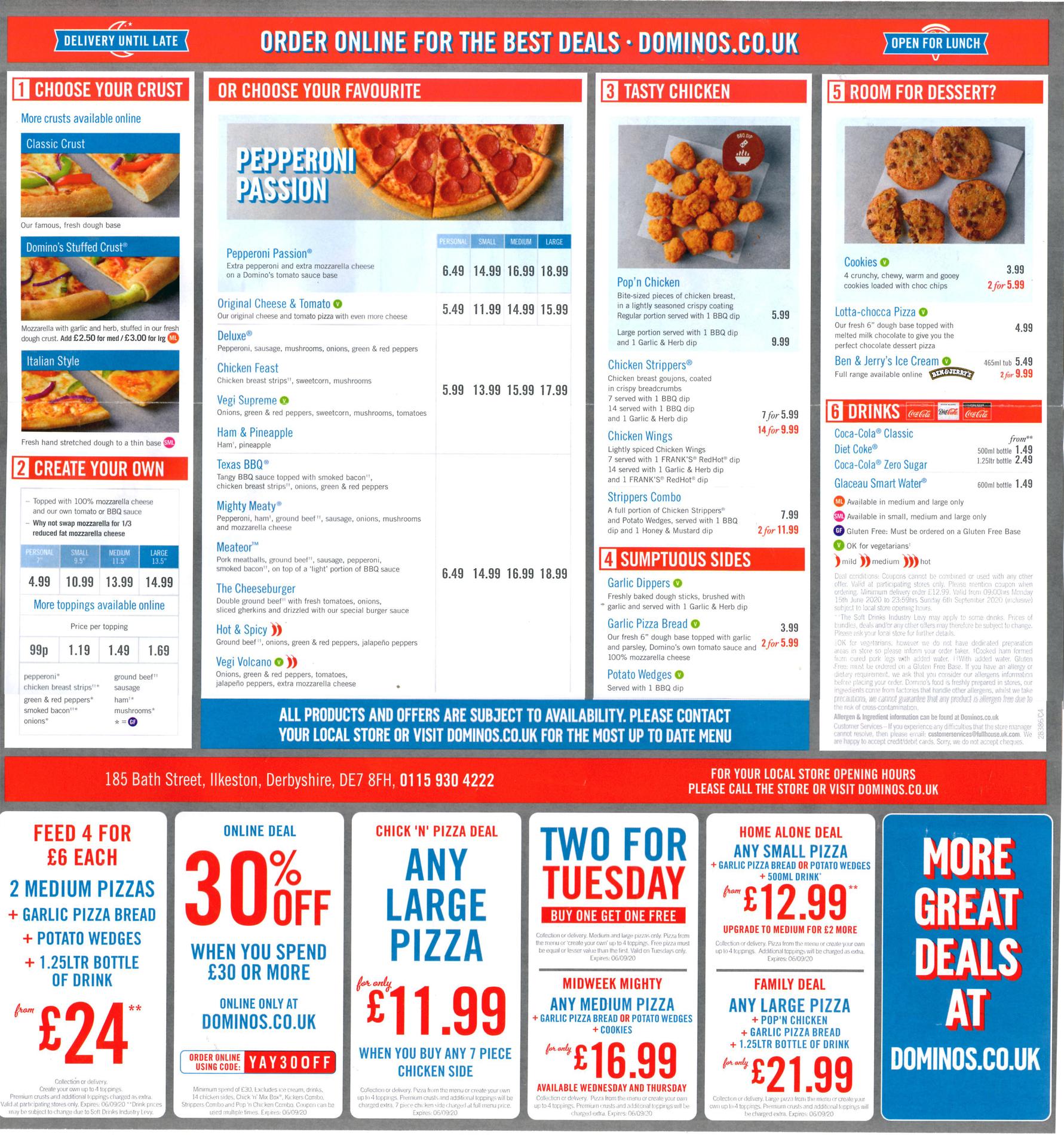 Dominos Nutritional Info Sandwich