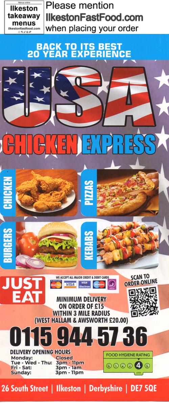 Usa Express Chicken Ilkeston Takeaway Menus Chicken