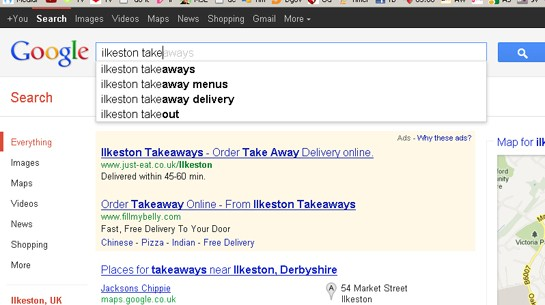 Ilkeston Fast Food Popular Keywords
