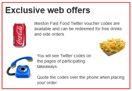 Ilkeston Fast Food Offers